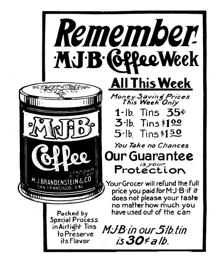 MJB coffee ad