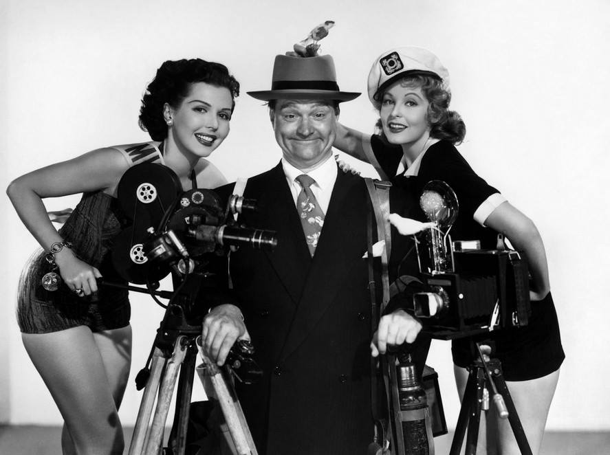 star Red Skelton with Ann Miller (left) and Arlene Dahl