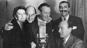 Diana Morrison, Kenneth Horne, Richard Murdoch,Sam Costa and Maurice Denham