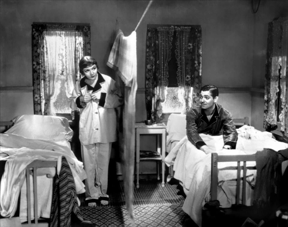Claudette Colbert & Clark Gable It Happened One Night.