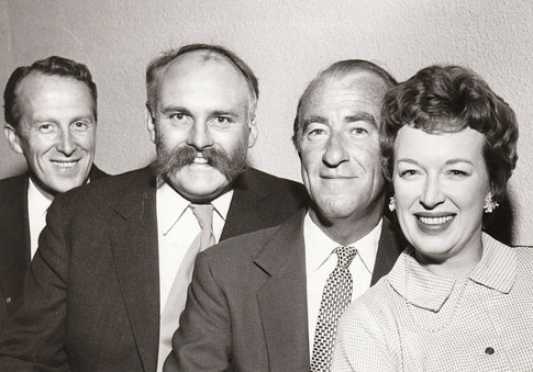 L.to R., Wallace Eaton, Jimmy Edwards, Dick Bentley, June Whitfield