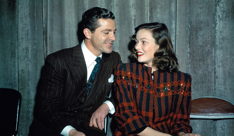 Dana Andrews and Gene Tierney, probably when they were performing the LUX Radio version of their hit film,