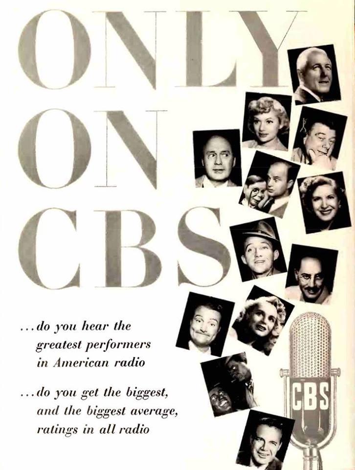 1949 Ad Promoting CBS Stars