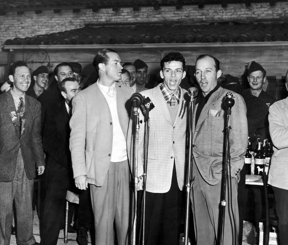 Bob Hope, Frank Sinatra, and Bing Crosby