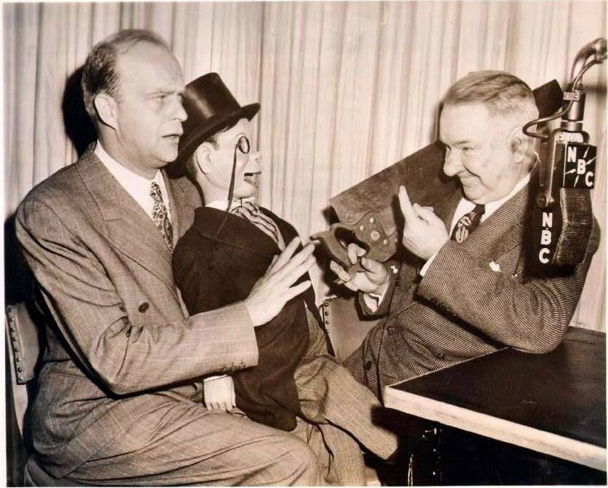 Edgar Bergen And Charlie McCarthy with WCFields