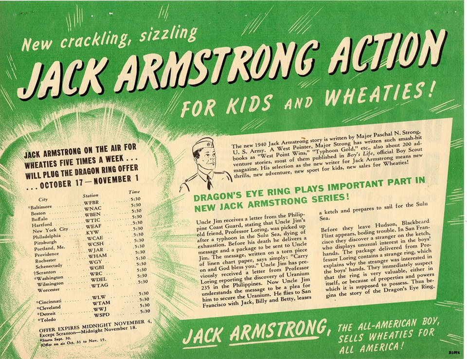 THE GREAT JACK ARMSTRONG ADVENTURE