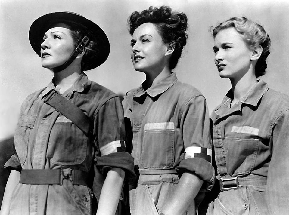 Claudette Colbert, Paulette Goddard, and Veronica Lake