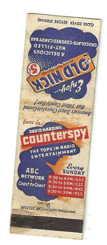 Counterspy matchbook
