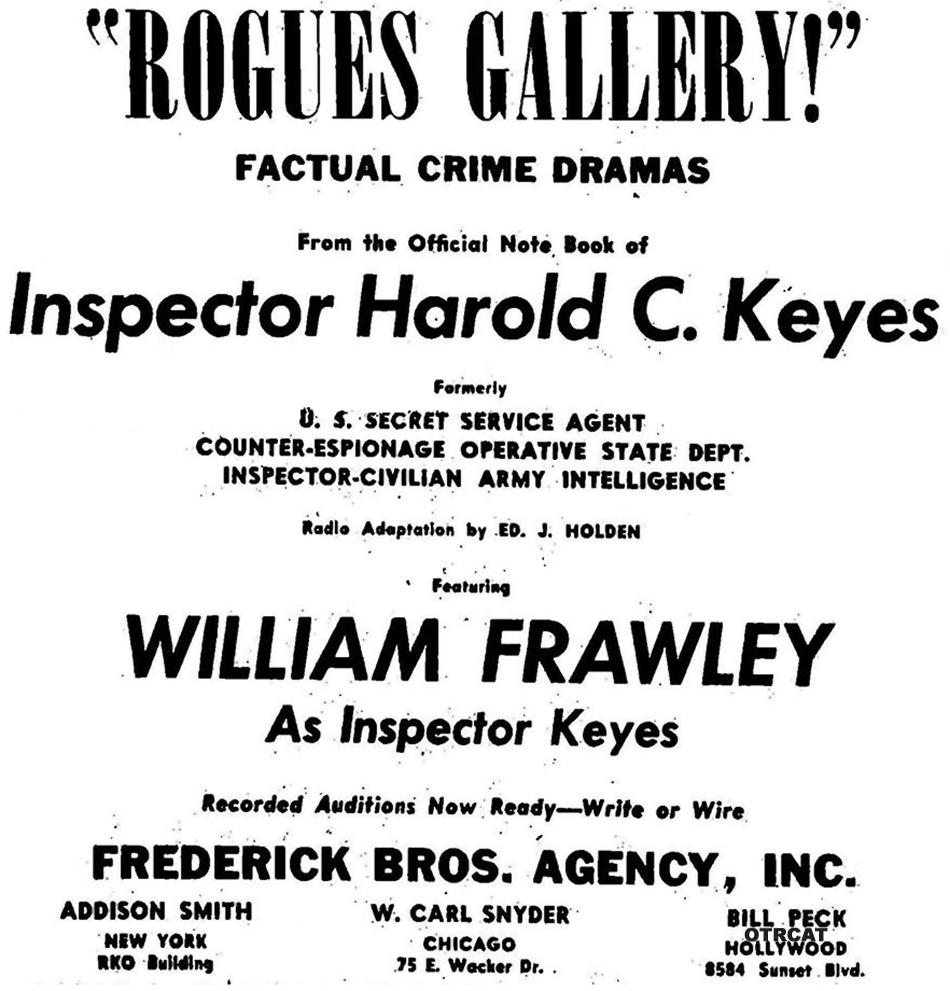 Rogues Gallery oddball advertisement