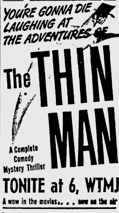 The Thin Man advertisment
