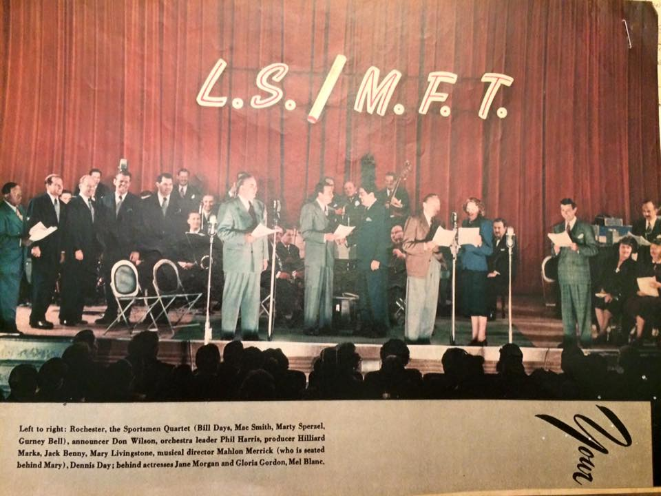 A great color shot of The Jack Benny Program.