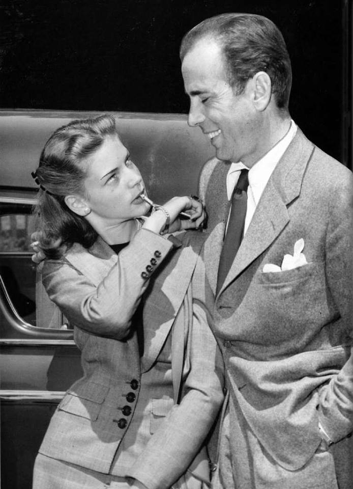 One of the big romantic couples from the Golden Age of Hollywood were Humphrey Bogart and Lauren Bacall, who met on the production of