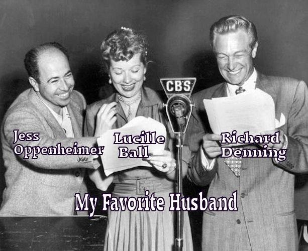 Richard Demming, Jess Oppenheimer and Lucille Ball