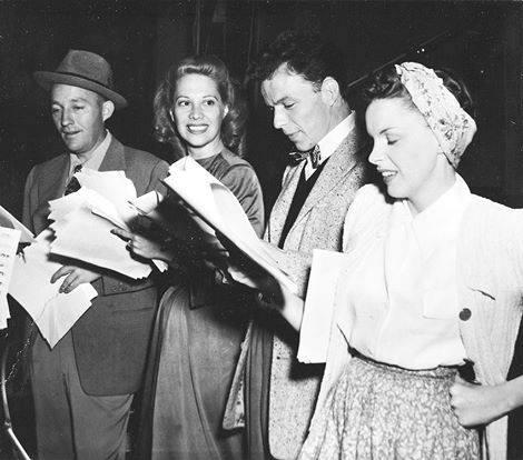 Bing Crosby Dinah Shore, Frank Sinatra and Judy Garland performing in