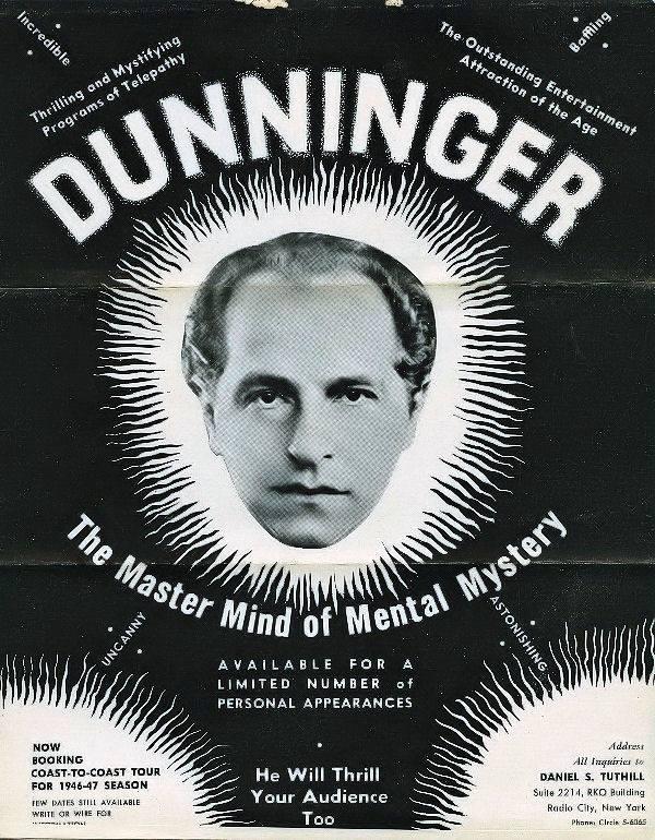 Dunninger the Mentalist Poster