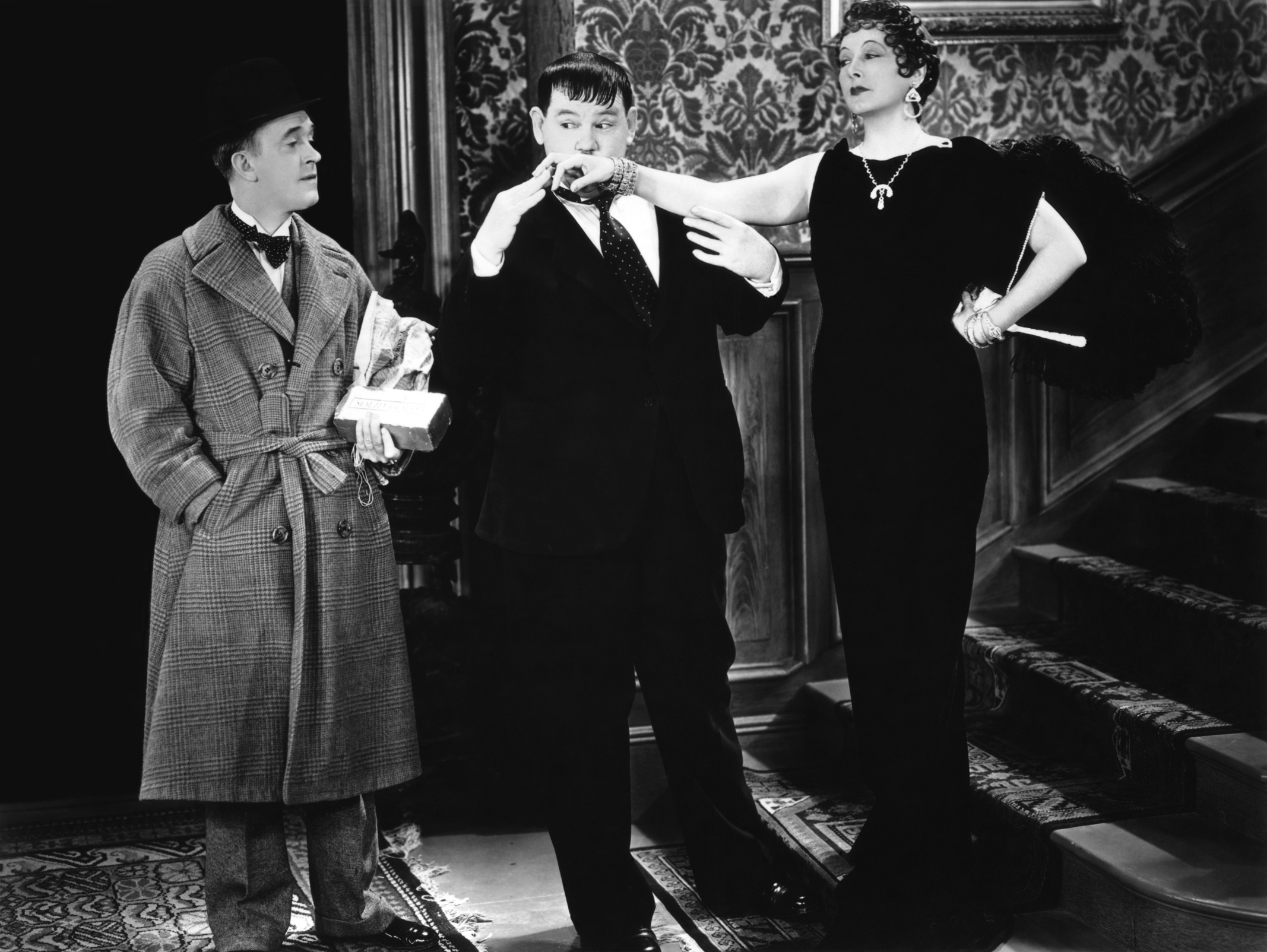 Laurel & Hardy With Mae Busch