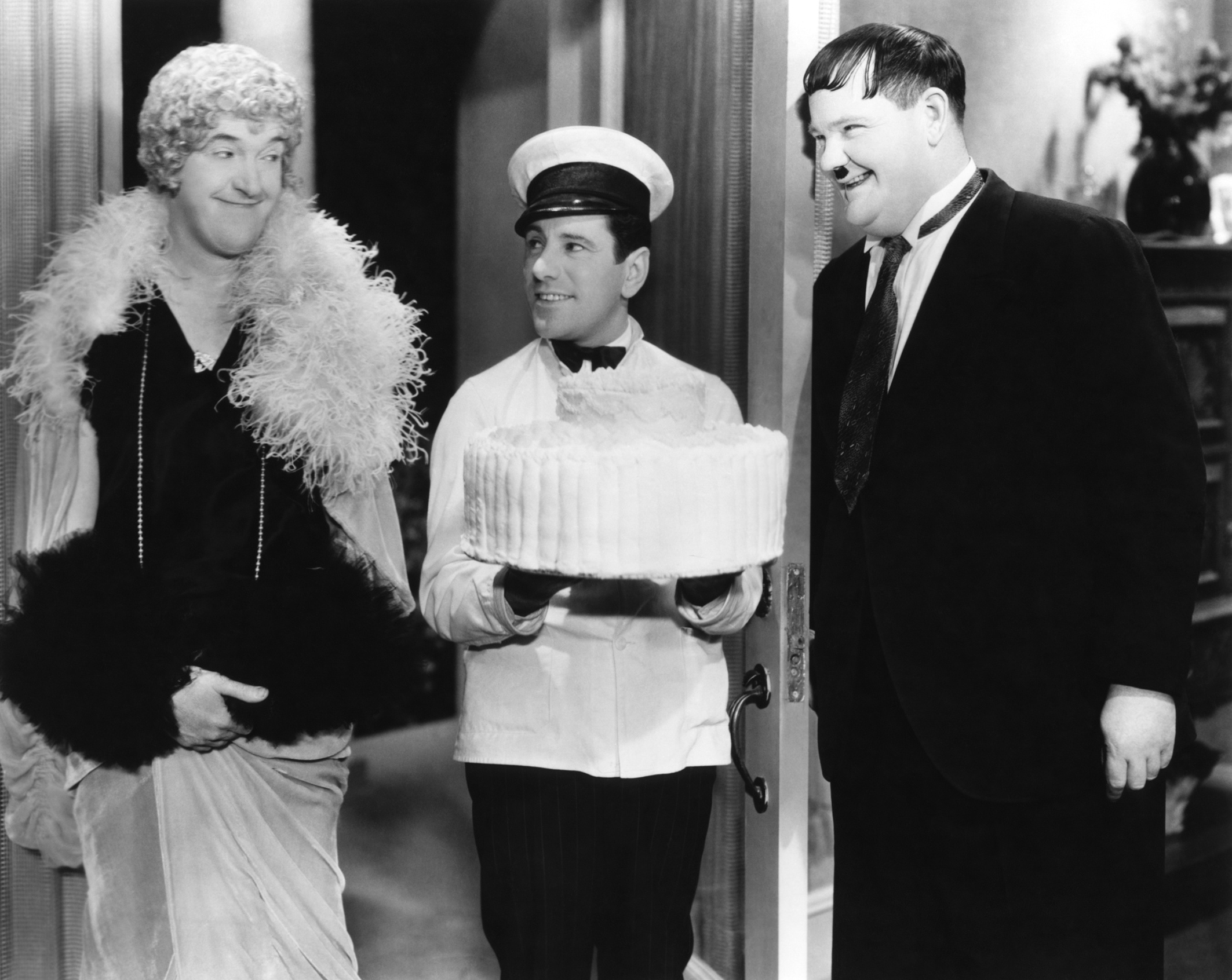 Laurel & Hardy With Charlie Hall (C)