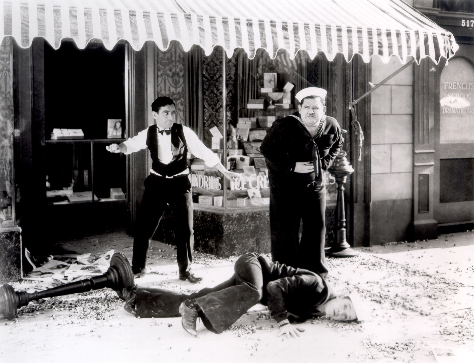 Laurel & Hardy With Charlie Hall (L)