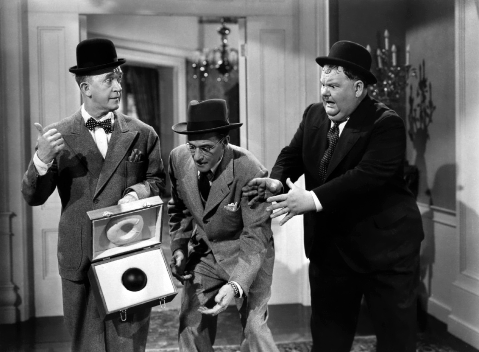 Laurel & Hardy With Arthur Space (C)