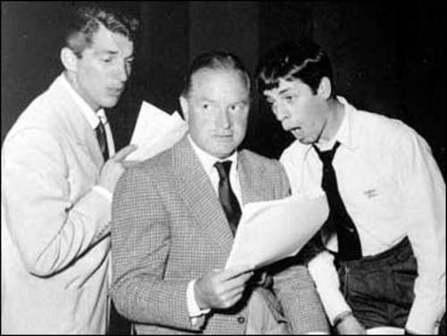 Martin and Lewis Show 49-03-24 Guest - Bob Hope  Dean and Jerry are nervous about their first radio show, and Bob Hope joins the boys to help them get started.