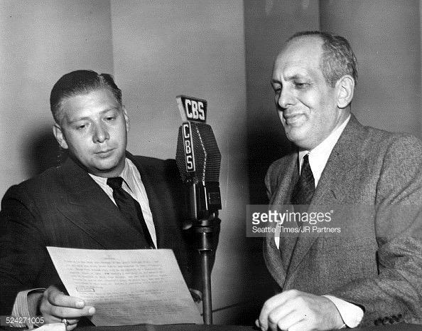 Harry Von Zell and Gabriel Heatter