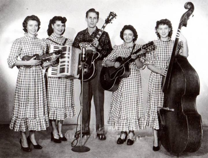 The Carter Sisters with Mother Maybelle and Chet Atkins