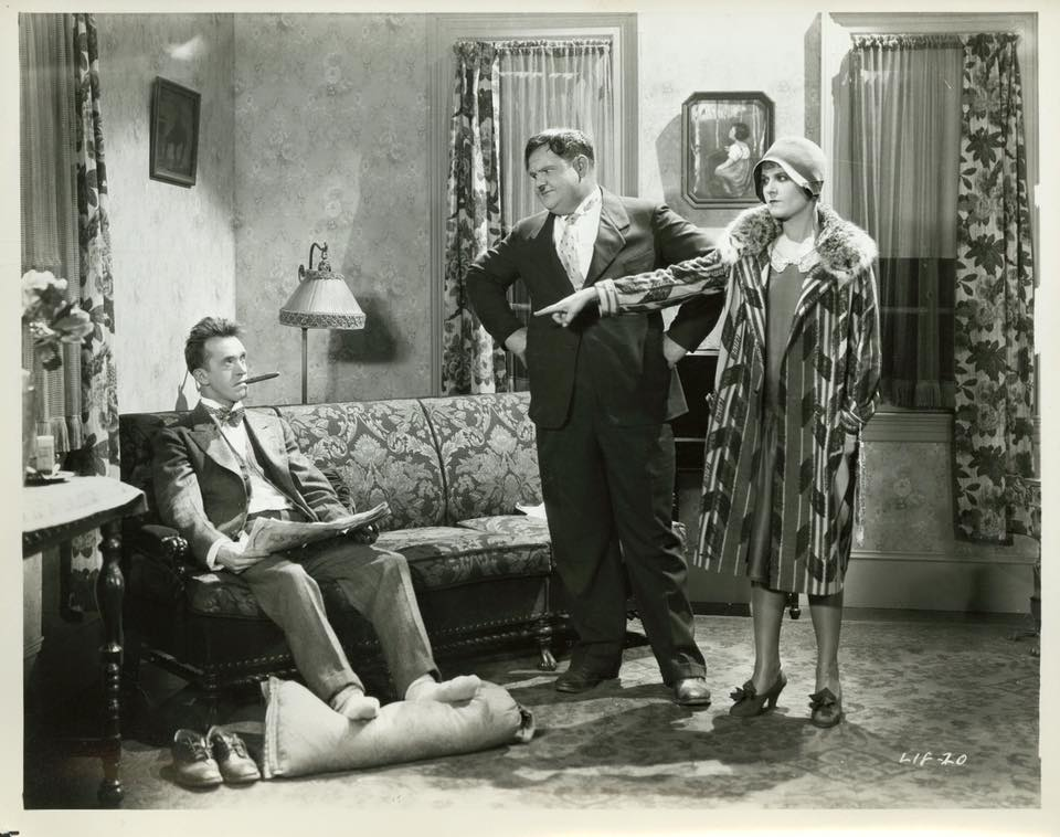 Olivier Hardy and Stan Laurel in That's My Wife directed by Lloyd French, 1929