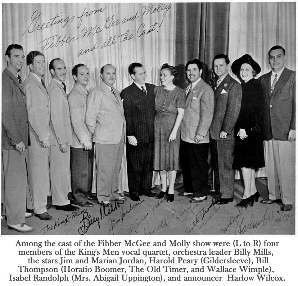 The Cast of Fibber McGee and Molly