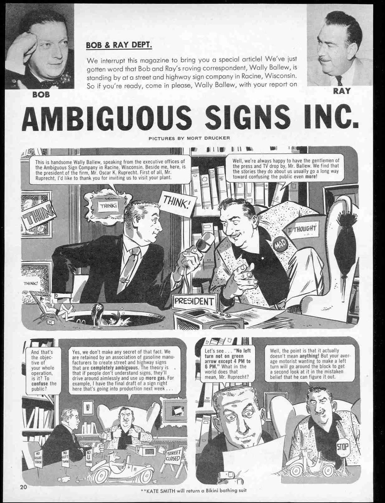 Bob and Ray Comic