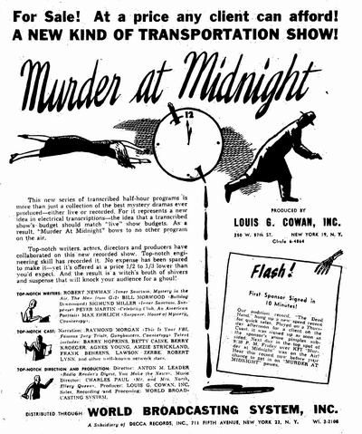 murder at midnight posters