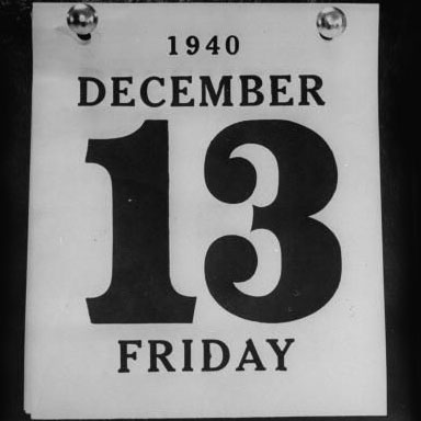 FRIDAY THE 13TH SUPERSTITION