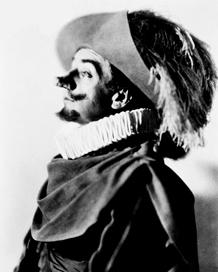 Hampden's 1929 Cyrano, in character
