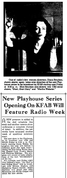 CBS and Campbell's announce the third season of Campbell Playhouse to be directed by Diana Bourbon and written by Wyllis Cooper and John Houseman, dated Nov. 11, 1942