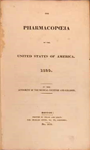 America's first United States Pharmacopoeia (U.S.P.) wasn't issued until 1820 and consisted of only 217 agreed-upon drugs, medicines, or preparations. Today's Pharmacopoeia comprises over 13,000 drugs, vaccines, and medicines.
