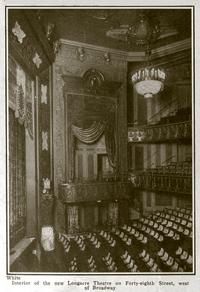 Interior view of the Longacre Theatre circa 1913