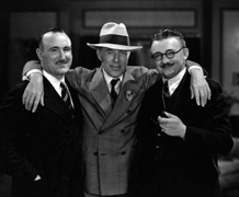 A tale of Hollywood irony. Birth of A Nation director D.W. Griffith, puts his arms around Donald Crisp and Jean Hersholt, ca. 1926. 22 years later D.W. Griffith would find himself, destitute and deathly ill, in the very Motion Picture Relief Fund Country Home and Hospital he and Jean Hersholt helped found in 1924