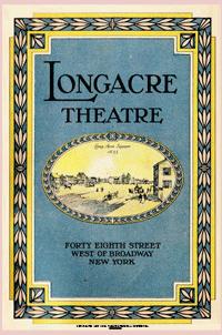 1927 Longacre Theatre program cover
