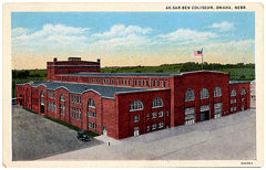 Postcard of Ak-Sar-Ben Coliseum circa 1930