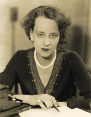 The Columbia chain's gifted young Dramatic Director, Georgia Backus, circa 1931.