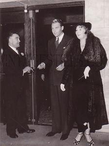 Bellamy entering The Philharmonic Auditorium, c. 1932