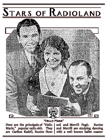 Announcement of Hello Marie from 1932.