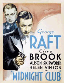 Brook appeared with George Raft in Midnight Club (1933)