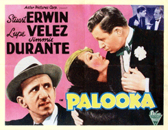 1934's Palooka for Reliance Pictures featuring Jimmy Durante as Knobby Walsh