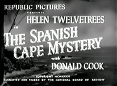 The Spanish Cape Mystery (1935) was the first Ellery Queen novel adapted to a feature film