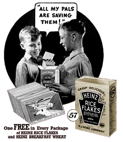 1936 Heinz Rice Flakes ad from Boy's Life