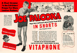 Vitaphone came out swinging with their 1936 promotional flyers to exhibitors