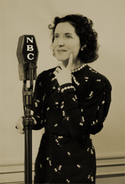 Gracie Allen before a 1937 NBC mike