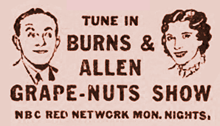 Burns and Allen merited their own metered mail franking imprint in 1938