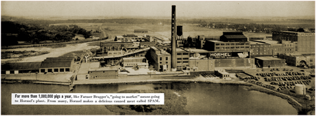 Panoramic view of one of the larger Hormel plants of 1939