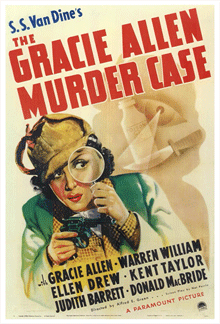Gracie Allen had her first major solo outing in a feature film with 1939's The Gracie Allen Murder Case, co-starring with Warren William in the role of Philo Vance.